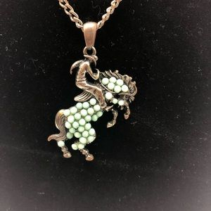 Jewelry - Rustic western cowboy buckin bronc horse necklace